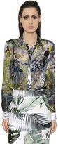 Max Mara Tropical Silk Chiffon & Twill Shirt