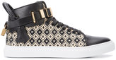 Buscemi lock detail hi-tops - men - Leather/rubber - 40