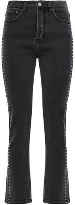 Victoria Victoria Beckham Victoria, Victoria Beckham Studded High-rise Straight-leg Pants