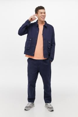 NATIVE YOUTH Patton Navy Jacket - Blue XL at Urban Outfitters