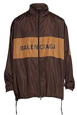 Balenciaga Men's Oversized Logo Windbreaker Jacket