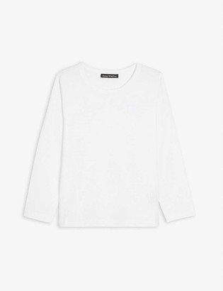 Acne Studios Nash long-sleeved cotton T-shirt 3-10 years