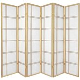 Oriental Furniture Original Authentic Japanese Room Divider Designs, 6-Feet Classic Double Cross Folding Shoji Privacy Floor Screen