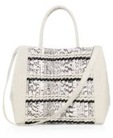 Nancy Gonzalez Woven Stripe Crocodile Leather Tote