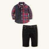Cotton Tartan Shirt & Jean Set