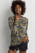 American Eagle Outfitters AE Camo Crew Sweatshirt