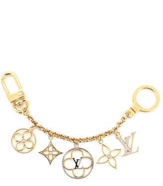 Louis Vuitton Flower Finesse Chain Bag Charm and Key Holder Crystal Strass and Metal