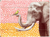 One Bella Casa Elephant And Bird Planked Wood Wall Decor By Eric Fan