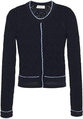 Sandro Bomi Scalloped Pointelle-knit Cardigan