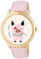 Betsey Johnson Women's Pig Leather Watch
