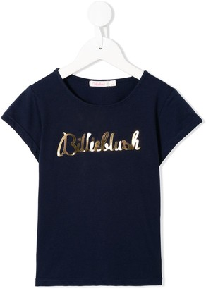 Billieblush metallic logo T-shirt