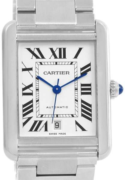 Cartier Tank Solo XL W5200028 Stainless Steel Automatic 31mm Mens Bracelet Watch