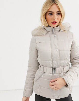 Lipsy padded coat in champagne