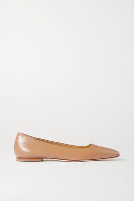 AEYDĒ Gina Leather Ballet Flats - Neutral