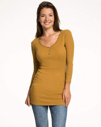 Le Château Rib Knit V-Neck Top
