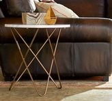Pottery Barn Darcy Marble-Top Accent Side Table