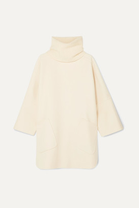Loro Piana Convertible Cashmere Turtleneck Cape - Ivory
