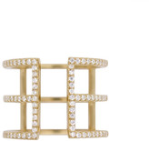 Rachael Ryen - Pave Cage Ring - Gold