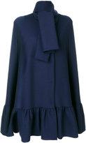 MSGM peplum hem cape - women - Polyester/Spandex/Elastane/Viscose/Virgin Wool - 40