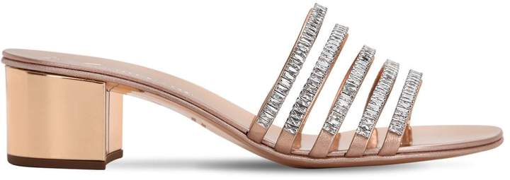 Giuseppe Zanotti Design 40mm Crystal & Patent Leather Sandals