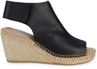 Andre Assous Floral Leather Wedge Espadrilles