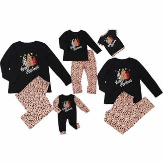 Cutemini Family Matching Christmas Pajamas Set for Dad Mom Baby Kids Holiday PJs for Family (Leopard Women/M)