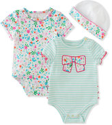 Kate Spade Girls' Floral & Striped Ruffle Layette Set, Size 3-9 Months