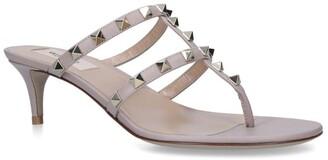 Valentino Garavani Leather Rockstud Sandals 50