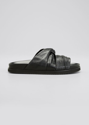 3.1 Phillip Lim Twisted Leather Pool Slide Sandals