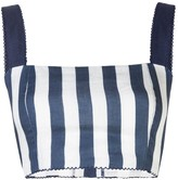 Agua Bendita Agua By Cacao Striped Bustier Cropped Top