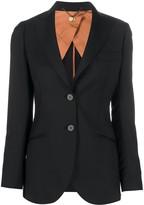 Maurizio Miri long sleeve fitted blazer
