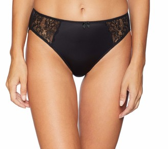 Arabella Women's Standard Hi Leg Lace Detail Panty 3 Pack