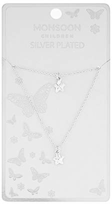 Monsoon Silver Plated Star Necklace & Bracelet Set