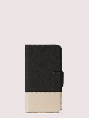 Kate Spade Leather Wrap Iphone X & Xs Folio Case