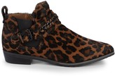 Gentle Souls Nepture Leopard-Print Calf Hair Booties