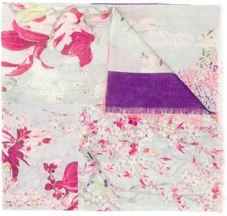 Etro Floral Patchwork Print Scarf