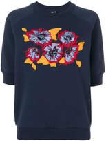 Jil Sander Navy floral shortsleeved sweatshirt