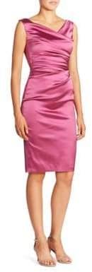 Talbot Runhof Women's Ruched Satin Sheath Dress - Cherry Blossom - Size 10