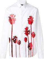 Christian Pellizzari metallic palm tree shirt