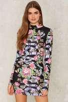 Jaded London Tip the Scales Mock Neck Mini Dress