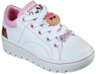 Skechers Women's Sneakers OFPK - Off-White & Pink Line Friends Street Cleat 2 Canvas Sneaker - Women