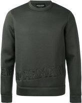 Emporio Armani logo embossed sweatshirt - men - Modal - L