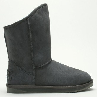 Australia Luxe Collective Cosy Grey Double Faced Sheepskin Ankle Boots