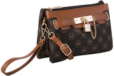 Mkf Collection By Mia K. MKF Collection by Mia K. Women's Handbags Brown - Brown Pacey Three-in-One Wristlet