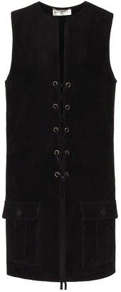 Saint Laurent Sleeveless suede jacket