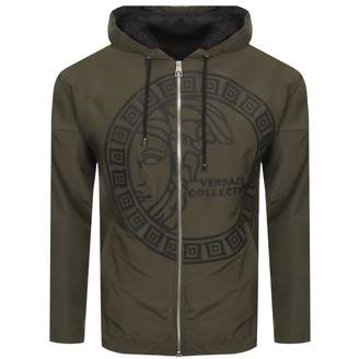 Versace Hooded Jacket Khaki