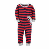 Carter's Boys 1Pc Cotton Red Dino Stripe Pant Pajama Set