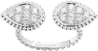 Boucheron 18kt white gold diamond Serpent Boheme ring