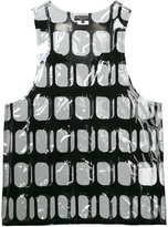 Comme des Garcons clear geometric pattern tank - men - PVC - M