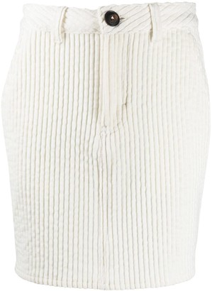 AMI Paris Corduroy Fitted Mini Skirt